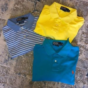Lot of 3 Polo Ralph Lauren polo shirts